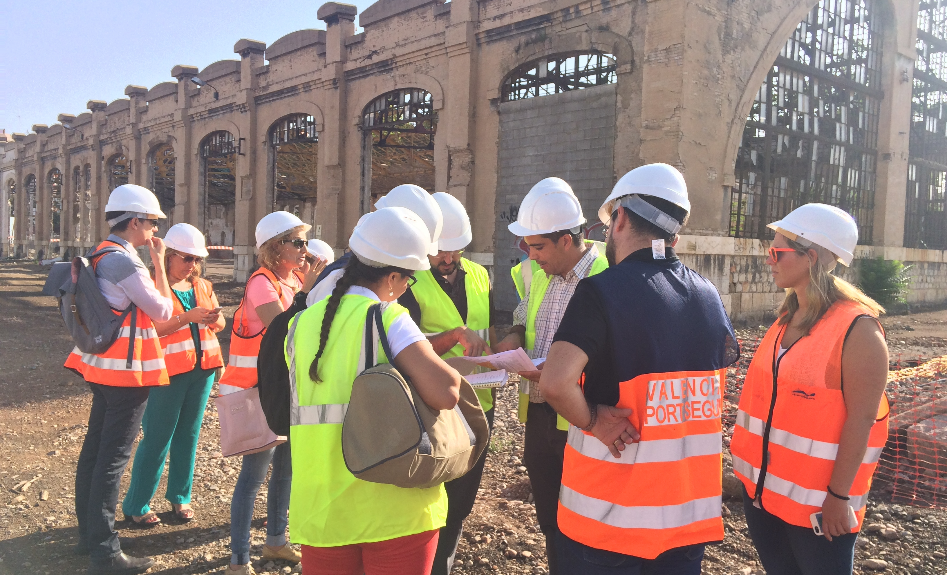 The SUCCESS partners visiting the works on the pilot site of Valencia.