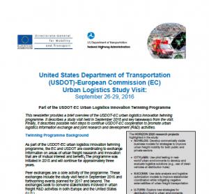 EC Newsletter US Study Visit